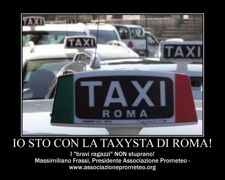 io sto con la taxysta di roma